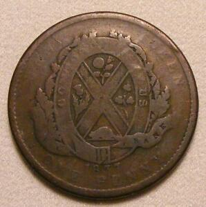 1837-Province-Of-Lower-Canada-City-Bank-1-Penny-2-Sou-Token-BR-521