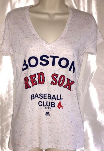 NWT BOSTON RED SOX Cream Speckled Tri-Blend Graphic Short Sleeve T Shirt Med New