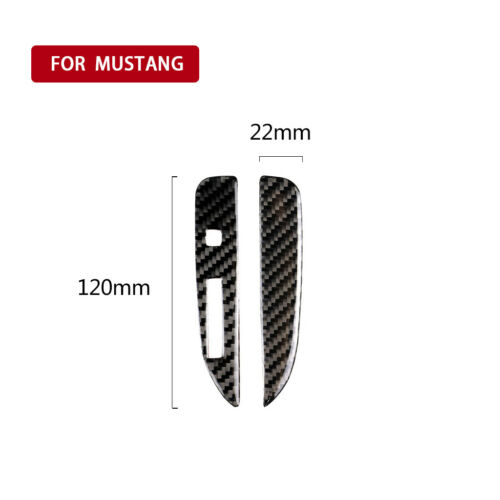 Pair For Ford Mustang 2015-2017 Carbon Fiber Gear Shift Panel Frame Cover Trim A