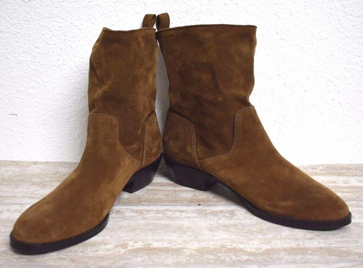 NEU Via Spiga Damen Veloursleder braun Stiefeletten Stiefel Größe 6M