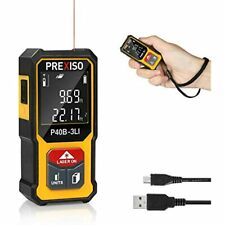 Prexiso Mini Laser Measure 135ft Rechargeable Distance Meter With High Accuracy