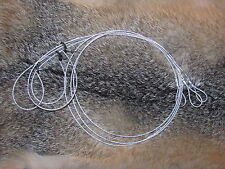 "6 Survival Snare good for mink/rabbit size 36"" x 1/16(trapping,traps,snares)SALE"