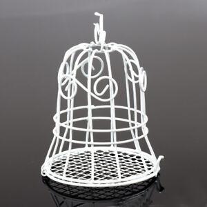 20pz-Gabbia-Bell-Cestino-Vintage-Materiale-Ferro-Vernice-Bianco-Portaconfetti