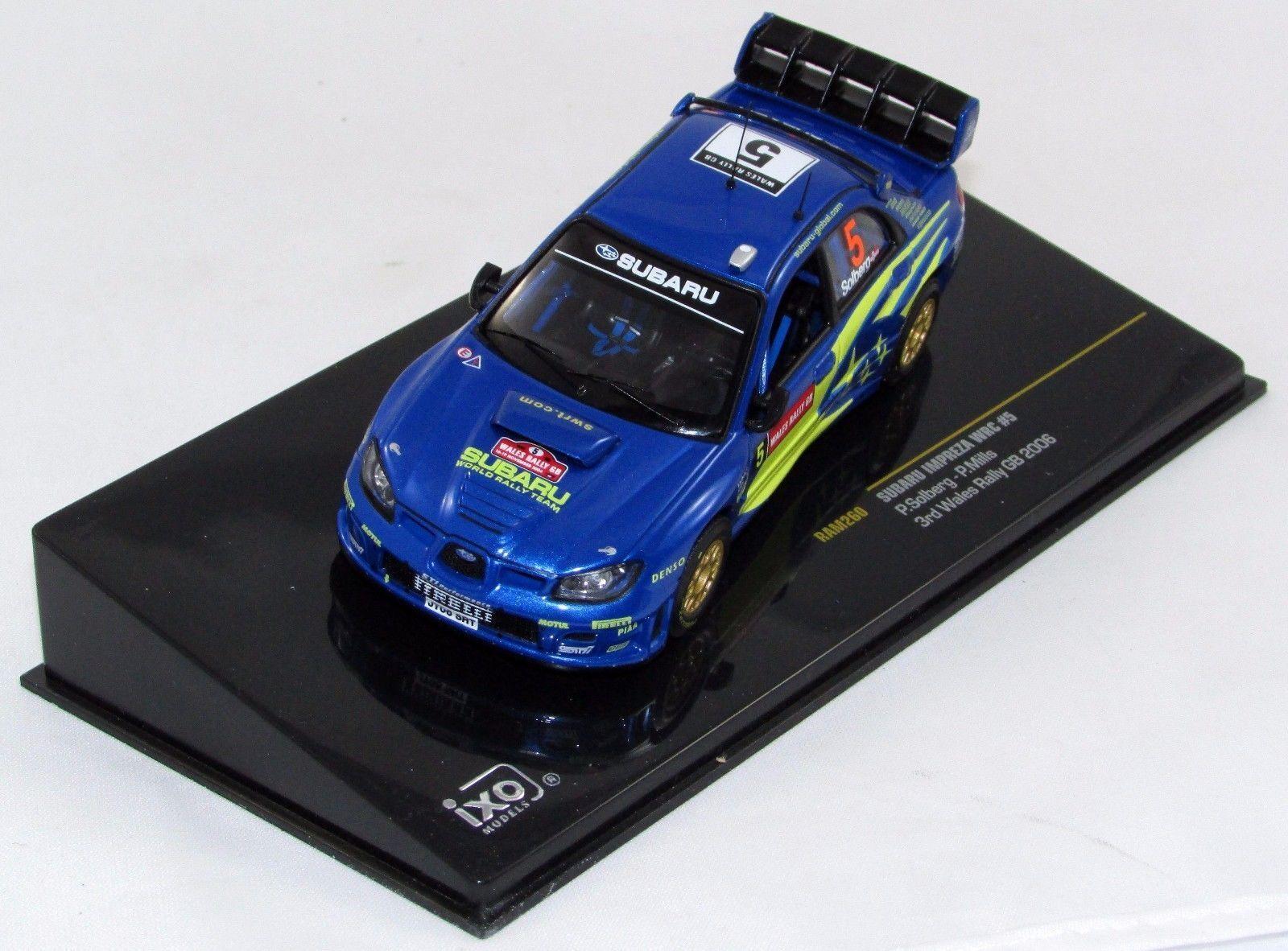 SUBARU IMPREZA WRC  5 3RD WALES RALLY GB 2006 SOLBERG MILLS IXO RAM260 1 43