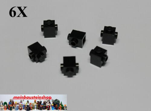 6X Lego® 47905 Basic Steine 1X1 m 2 seitlichen Noppen Schwarz Black NEU