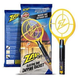 ZAP IT Rechargeable Mosquito Fly Swatter//Killer and Bug Zapper Bug Zapper