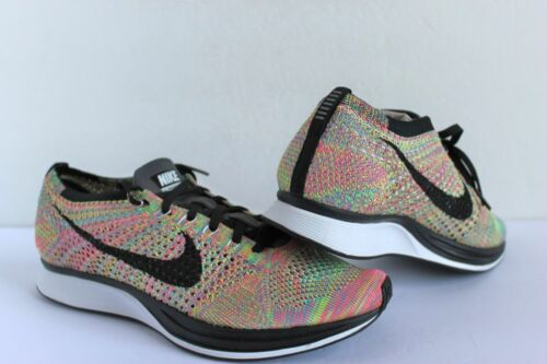 Nike Flyknit Racer Green Strike Black Multi-Colored sz M 9// W 10.5 or M10//W11.5