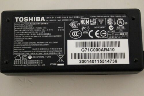 Original Toshiba 45W 19V 2.37A Satellite C50,C50D,C55,C55D Laptop Power Adapter