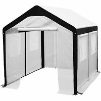 8x10-ft Large Walk In Fully Enclosed Lawn And Garden Greenhouse With Windows