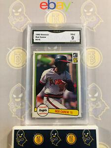 1982-Donruss-Rod-Carew-216-Angels-9-MINT-GMA-Graded-Baseball-Card