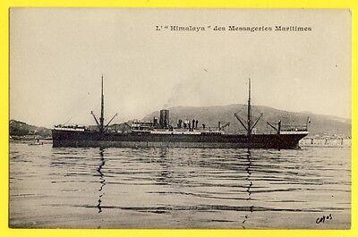 """DináMica Cpa Rare Dos 1900 Messageries Maritimes Bateau Navire Paquebot L' """" Himalaya """""""