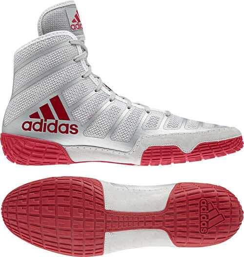 Adidas AdiZero Varner 2 Red/Silver Men's Wrestling or Boxing Shoes