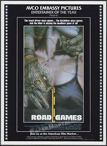 ROAD GAMES__Original 1981 Trade print AD / poster__Jamie Lee Curtis__Stacy Keach