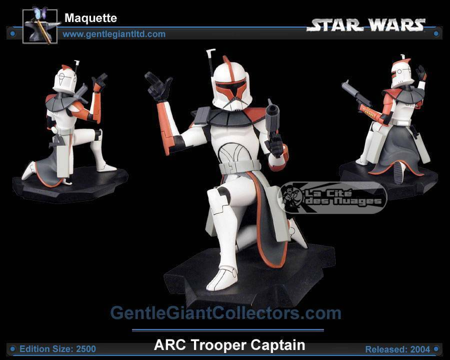 Gentle Giant Star Wars animated maquette - ARC Trooper Captain NEW SEALED RARE