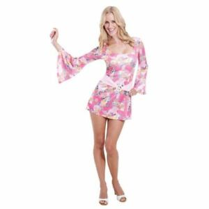 e76c08238c2 60s 70s Hippy Flower Power Hippie Chick Fancy Dress Costume Womens ...