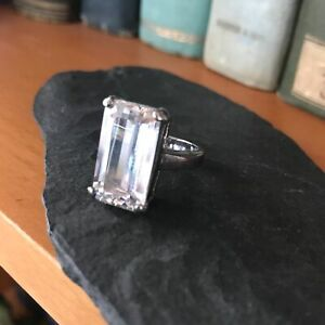 Ring with clear stone  silver 925