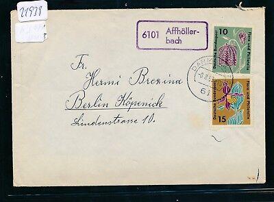 Darmstadt Landpost Ra2 6101 Affhöller-bach Warnen 21939 Brief 1962 Husten Heilen Und Auswurf Erleichtern Und Heiserkeit Lindern