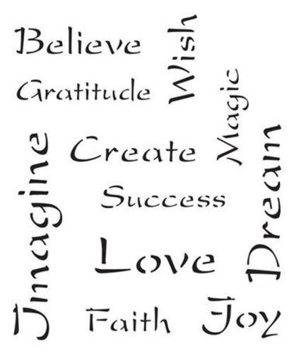 A5 A3 A4 Inspirational Words 190m Mylar Stencil durable /& sturdy