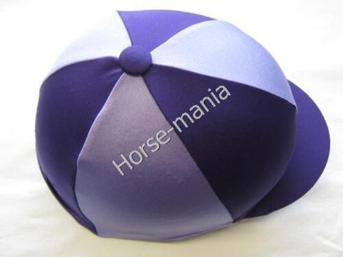 Violet /& Lilas Équitation Chapeau Couverture en soie pour Jockey caps taille unique