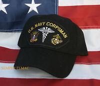 CORPSMAN HAT US NAVY HN CAP DOC MEDIC USS WOWNH HOSPITAL FLEET MARINE FORCE FMF!