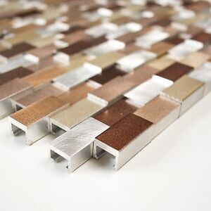 Das Bild Wird Geladen Brick Aluminium 3D Effekt Mix Alu Silber Kupfer
