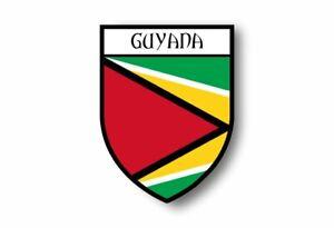 Stickers-decal-souvenir-vinyl-car-shield-city-flag-world-crest-guyana