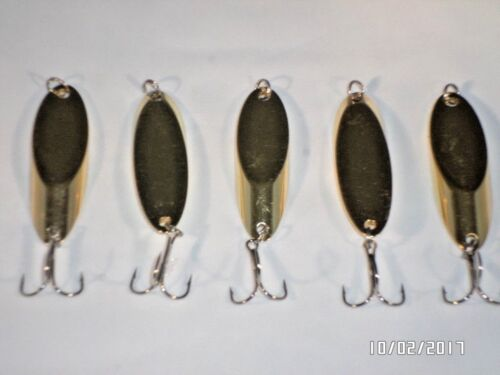 10 New Kastmaster Style Gold Spoon 1 ounce great for Trout,/& Bass