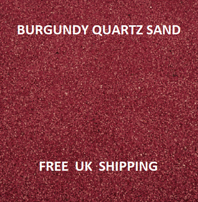 RED Coloured Quartz Sand Artists Crafts Wedding Floristry Decor Aquarium ART