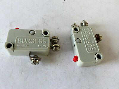 Energisch 2x Original Burgess Micro-schalter V3, 5a 250vac Mit Schraubanschluss, Nos