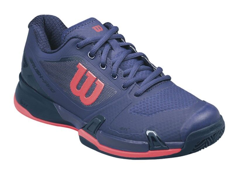 Zapatos promocionales para hombres y mujeres Wilson Rush Pro 2.5 Clay Court Mujer wrs323040 Astral Aura / Evening Blue