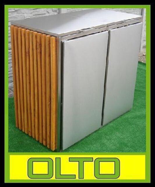 Mülltonnenbox CELINE 2/240 L Edelstahl Müllbox Tonnenhaus Müllcontainer