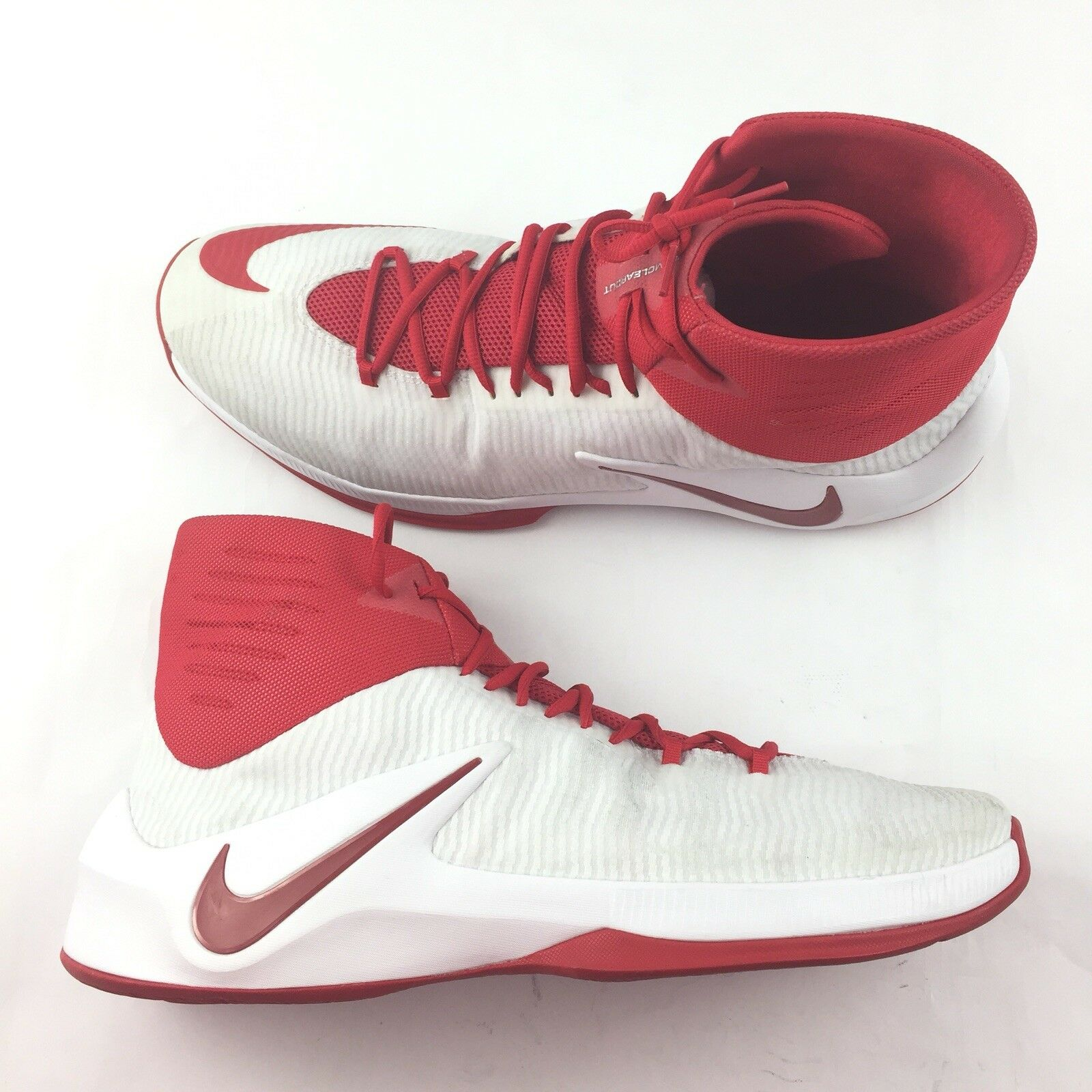 Nike Zoom Clear Out High Top Size 18 Basketball shoes Red White 856486-161 New