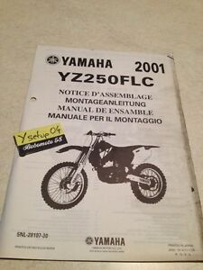 yamaha yz250flc 2001 yz250 yz 250 f lc setup manual assembly rh ebay co uk 2001 yz250 manual pdf 2001 yz250 repair manual