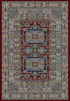 Red Beige Traditional Persian Aztec Tribal Geometric Design Quality Rug -30%off