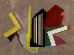 Leslie-Parks-Original-Abstract-Work-on-Paper-Signed-by-Artist-with-Date-1980-039-s
