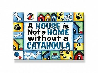 "DECO MAGNET 2""x3"" CATAHOULA Fridge Magnet dog breeds dogs gift USA"