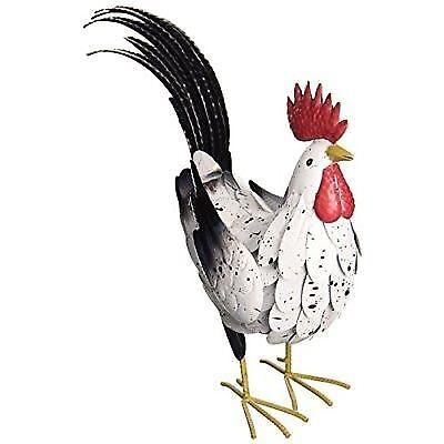Regal Black Rooster Decor Medium