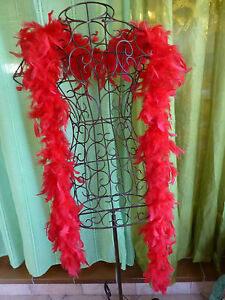 2m10 Magnifique Boa Plumes rouges !! soirée-photos -look ..... 9VBwnV5U-08044242-858343445