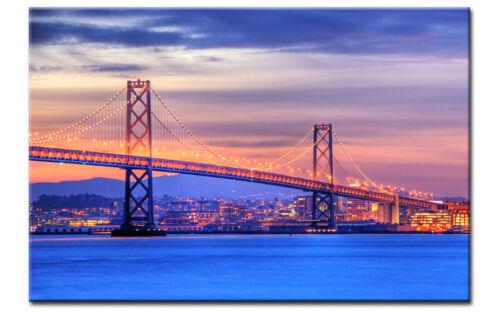 SAN FRANCISCO LEINWAND BAY GOLDEN GATE BRIDGE BILD AUF Keilrahmen A00761 GÜNSTIG