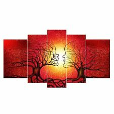LynHee Red Tree Human Body Contemporary Abstract Giclee Canvas Prints Wall Art