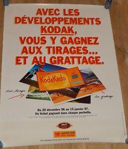 AFFICHE publicitaire PLV KODAK 1997 : Opération Jeu KODAKADO un ticket gagnant