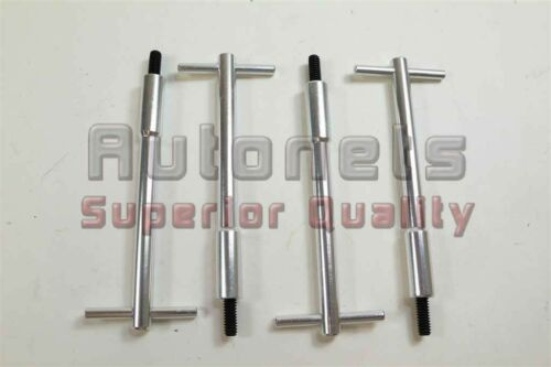 """4x Silver Aluminum Valve Cover T-Bar Wing Nut bolts 1//4/""""-20 Chevy Ford Mopar Old"""