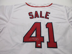 Chris Sale Signed Boston Red Sox Jersey   2×AL strikeout leader ... cded220bfbf