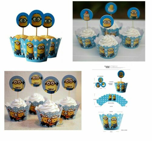 MINIONS DESPICABLE ME BIRTHDAY PARTY TABLE COVER PLATES CUPS NAPKINS BALLOONS