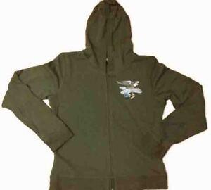 "Harley-Davidson Women's Green Sweatshirt Hoodie ""Eagle Streamer"" Small"