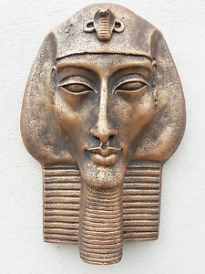 TUTANKHAMUN-EGYPTIAN-PHARAOH-FACE-WALL-PLAQUE-CONCRETE-STONE-GARDEN-ORNAMENT