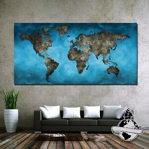 Banner huge large size canvas watercolor blue decor wall home world image is loading banner huge large size canvas watercolor blue decor gumiabroncs Choice Image
