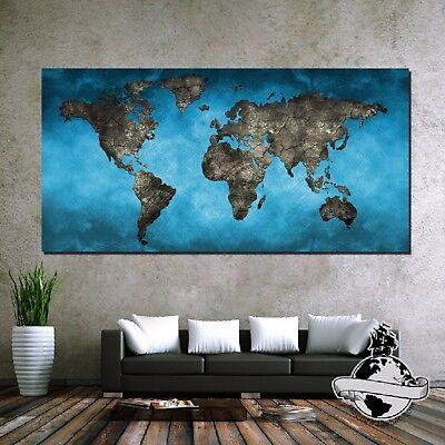 Banner Huge large  Size canvas Vintage navigation Pirate Retro World Map Poster