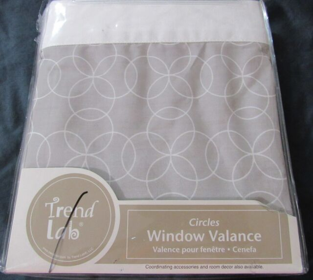 Gray and White Circles Trend Lab Window Valance
