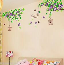 HUGE TREE BIRD FLOWERS BRANCH LIVIG ROOM WALL ART STICKERS VINYL HOME DECORATION